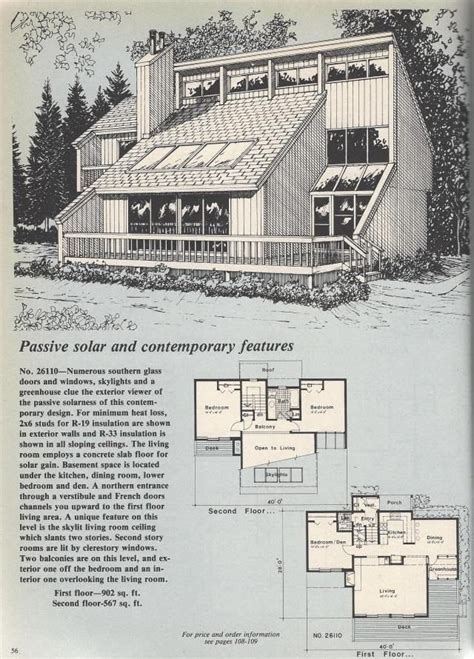 Contemporary Modern House Plans Vintage House Plans Contemporary Passive Solar Vintage