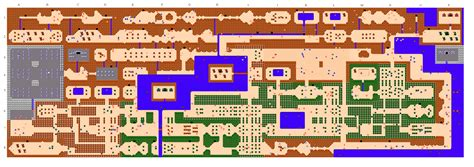 legend of zelda rom map the legend of zelda world dungeon maps