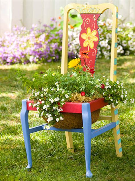 home and garden decorating ideas 22 cool chair planter ideas for home and garden balcony