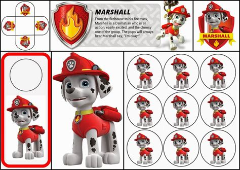 printable images of paw patrol paw patrol free printable mini kit of marshall oh my