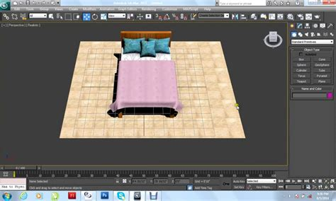 tutorial autocad to 3ds max autodesk 3dsmax 2012 tutorial bed pillows blanket modeling