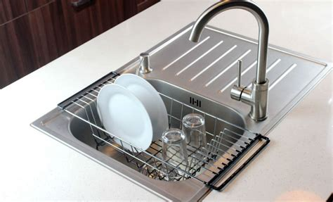 dish drainer rack sink holder drying kitchen