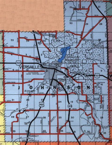 Johnson County Indiana Records Ripley County Indiana Genweb Township Maps Johnson