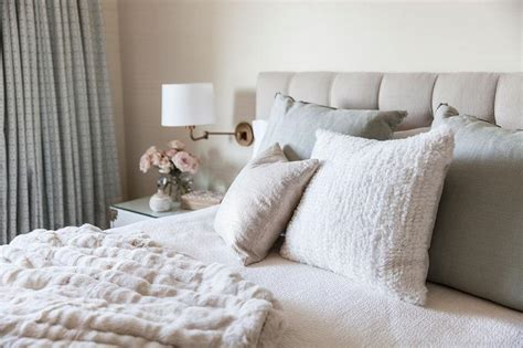 Gray And Beige Bedroom by Beige Tufted Headboard Design Decor Photos Pictures