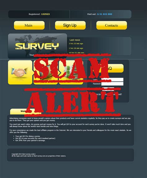 doing survey and earn money scam alert - Survey And Earn