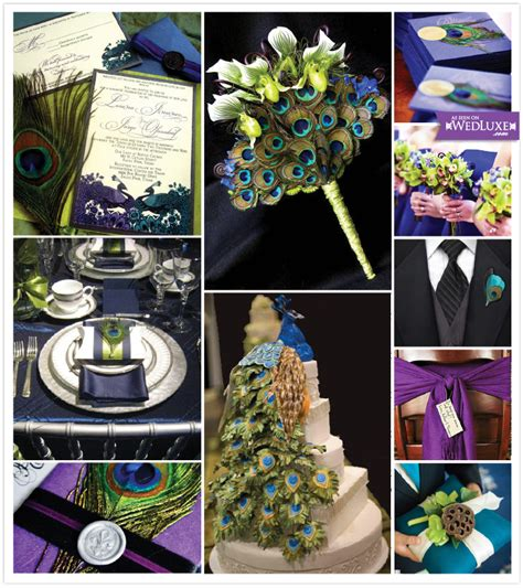 to and to hold peacock wedding theme