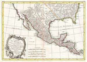 Texas Mexico Map by File 1771 Bonne Map Of Mexico Texas Louisiana And