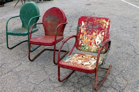 antique metal lawn chairs value metal and porcelain antiques house depot