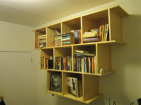 crafted wall hanging bookcase shelves by wooden it