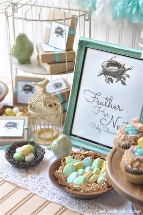Bird Baby Shower Supplies by Feather Nest Bird Baby Shower Creative Juice
