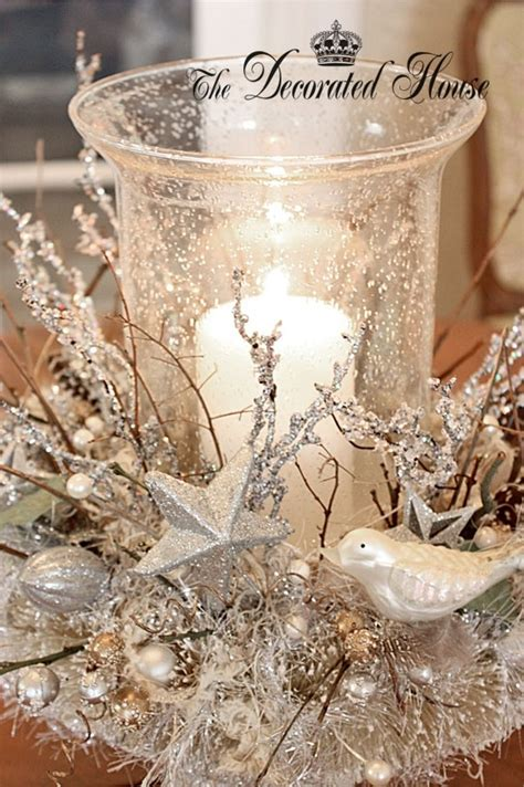 silver and white table centerpieces candle holder decoration pictures photos and images for