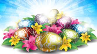 Hd wallpaper lilies eggs for easter background wallpapers for your