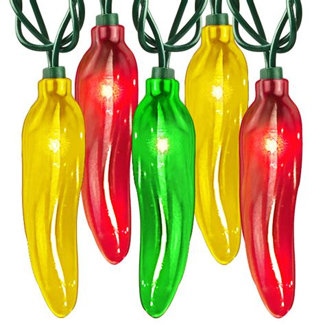 35 bulbs multi color chili pepper lights 16 5 ft