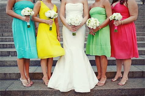 2010 brightly colored bridesmaid dresses wedding - Bright Coloured Bridesmaid Dresses