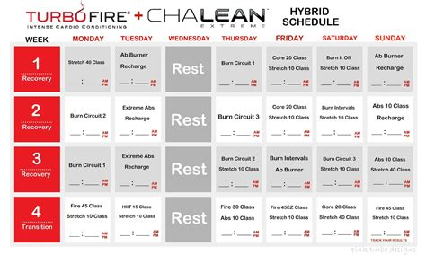 Q T Calendrier Committed To Fit Chalean Turbo Hybrid