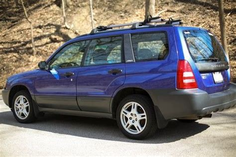 blue subaru forester 2003 purchase used 2003 subaru forester quot pacifica blue pearl