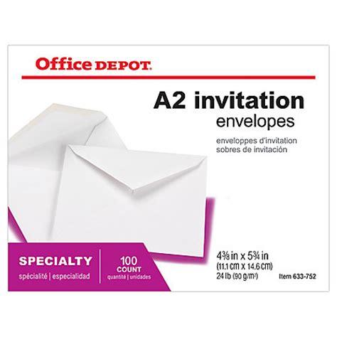Office Depot Envelopes Office Depot Brand Invitation Envelopes 4 38 X 5 34 White