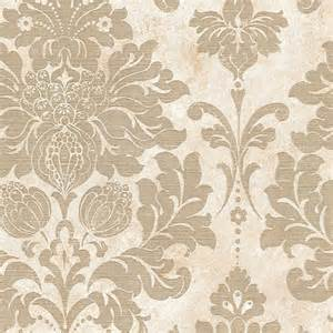 White And Beige Bathrooms - large damask in gold and beige md29414 traditional wallpaper by pebblestone wallcoverings