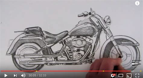 How To Draw A Harley Davidson Motorcycle