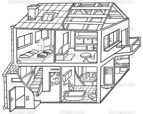 house draw black and white image of house interior clipart clipground
