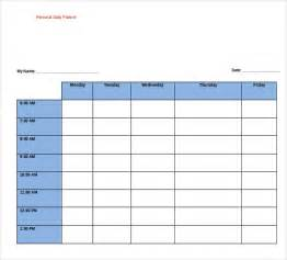 personal calendar template 8 free daily planner templates in microsoft word