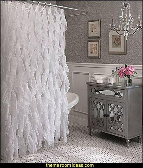 glam bathroom ideas glam bathroom decorating cascade shabby chic ruffled sheer