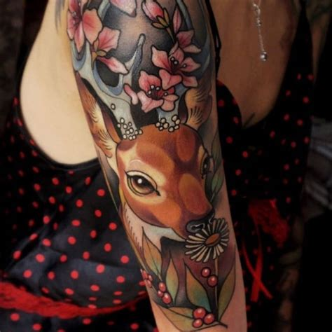 new school deer tattoo 120 best deer tattoo meaning and designs wild nature 2018