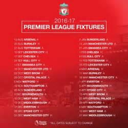 Calendario De Liverpool Calendario De La Premier League 2016 17 Madvertus