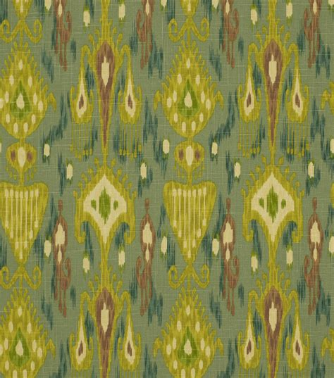 robert allen home decor fabric home decor print fabric robert allen khanjali peacock jo ann