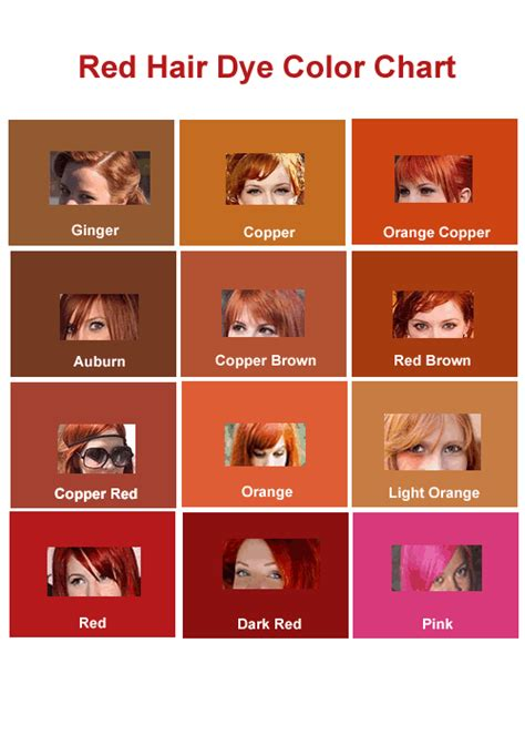 hair dye color chart red hair dye color mozcool