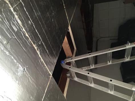 garage ceiling and insulation rigid foam board install