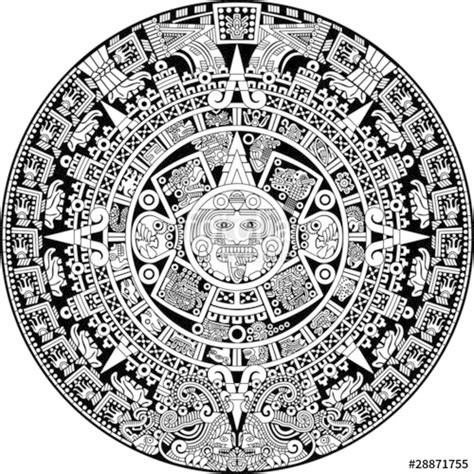 Calendrier Aztec Quot Aztec Calendar Quot Stock Image And Royalty Free Vector Files