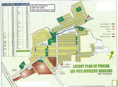 layout plan of mohali ias pcs society plots new chandigarh mullanpur real