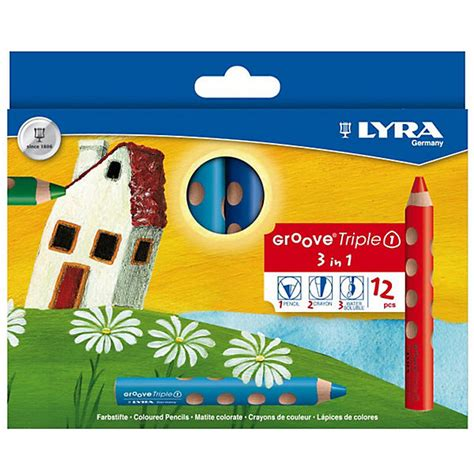 Lyra 3in1 buntstift groove 3in1 12 farben lyra mytoys