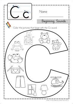 colors that start with c beginning sounds color it and preschool