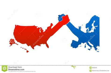map usa vs europe united states versus europe royalty free stock photo