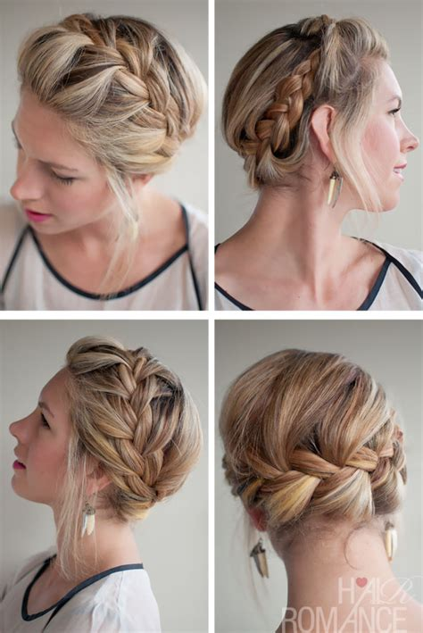 crown braid short hair hairstyles new stylish french crown braid beautiful braided updo