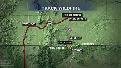 current colorado wildfires map wildfire near new mexico colorado border doubles in size