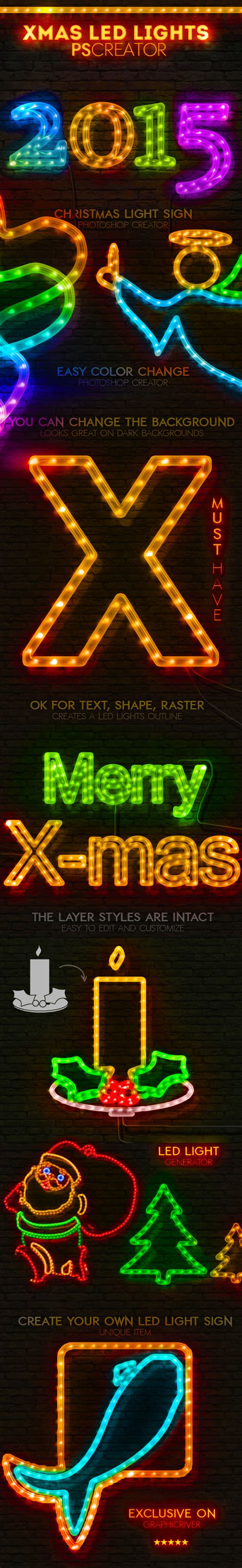 free download christmas light action for photoshop graphicriver neon light sign photoshop actions 187 dondrup
