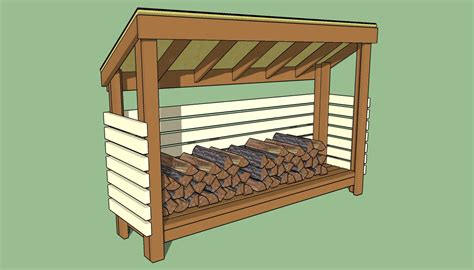 How To Build The Shed by Firewood Storage Shed Plans Howtospecialist How To
