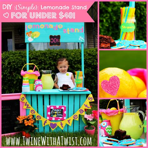 diy lemonade stand diy simple lemonade stand 40 guest post