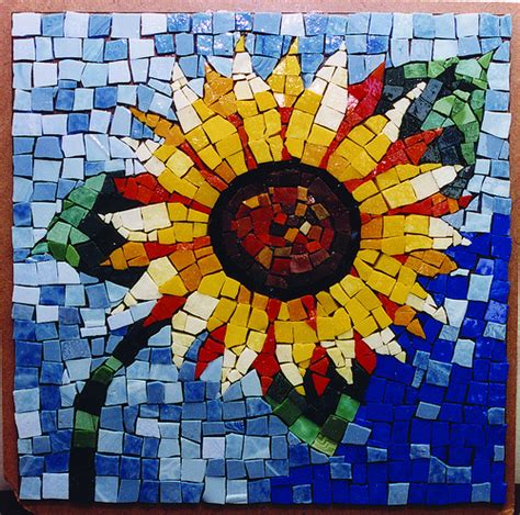 Create Mosaics Using Your Flickr Photos by Sunflower Mosaic Flickr Photo