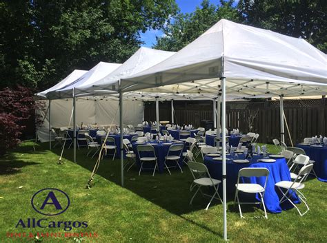 backyard canopy tent allcargos tent event rentals inc 20 215 40 white canopy