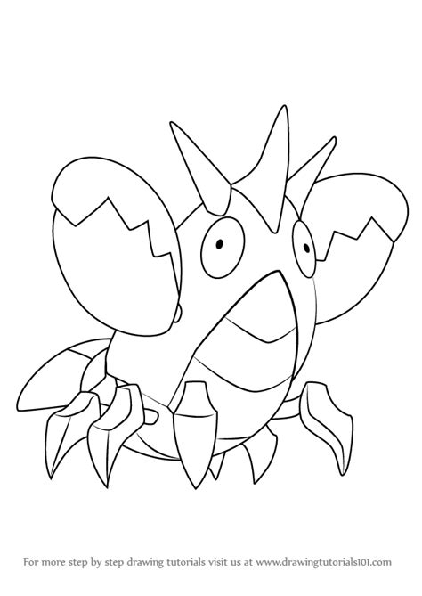 stencil tutorials learn how to learn how to draw corphish from pokemon pokemon step by