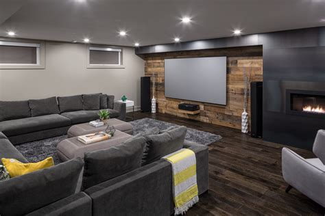 modern basements spectacular basement retreat contemporary basement