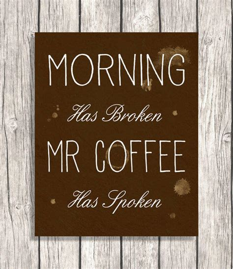 printable morning quotes coffee wall art morning kitchen art from patihomedecor on