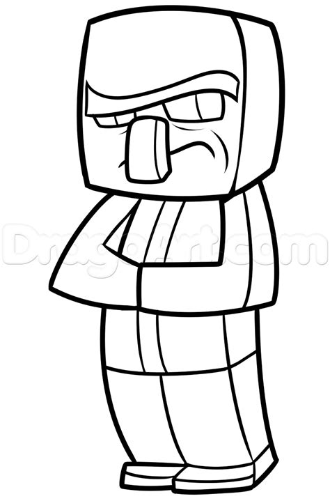 villager coloring page free coloring pages of villager minecraft