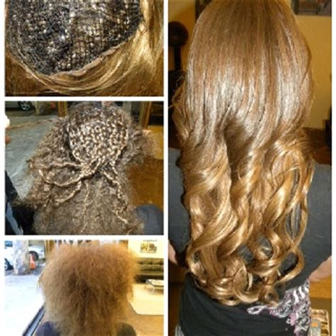 pictures after weave removal braided weave extensions gone very bad we started by