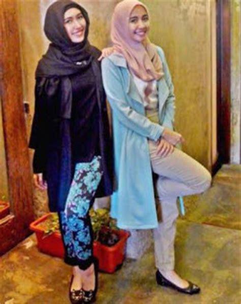 tutorial hijab pesta laudya chintya bella 10 contoh baju hijab terbaru gaya laudya chintya bella