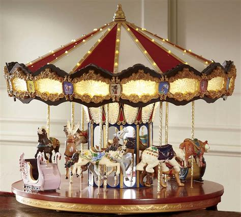 carousel merry go round rotating music animated christmas